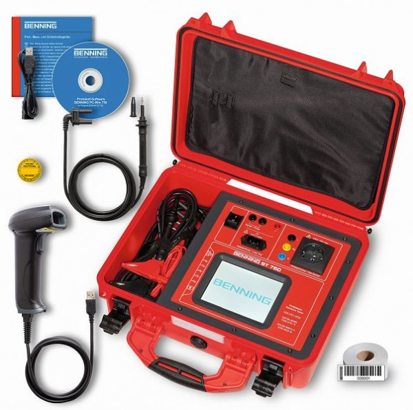 Benning ST 760 set, apparaat tester set VDE0701-0702 0751 0544, 050325