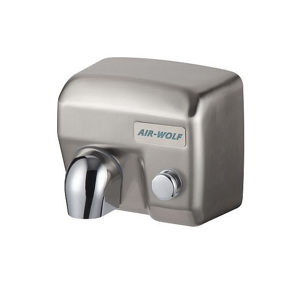 Air Wolf handdroger, E-serie, H x B x D: 247 x 281 x 211 mm, geborsteld staal, 10-305