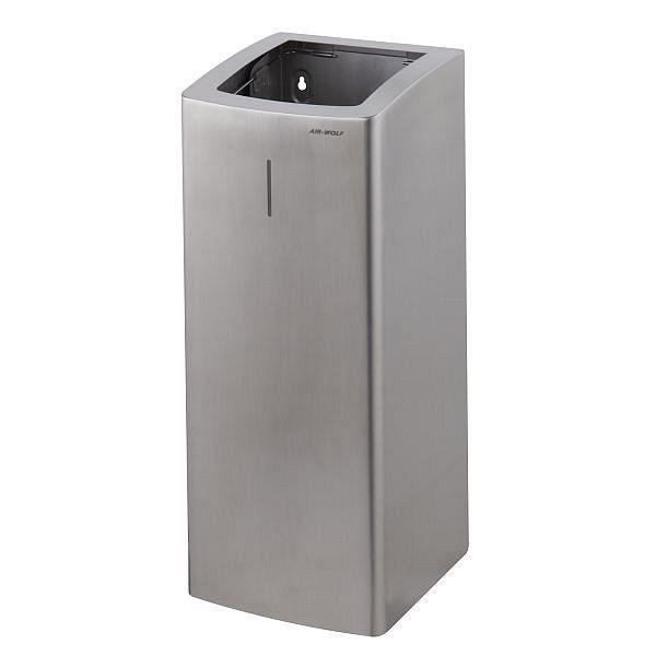 Air Wolf afvalbak met 50 liter volume, Alpha-serie, H x B x D: 661 x 265 x 280 mm, geborsteld roestvrij staal, 60-135
