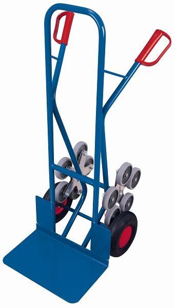 VARIOfit trapwagen met vijfarmige wielsterren, laadvermogen 200 kg, emmerafmetingen: 480 x 300 mm (W / D) luchtbanden, sk-710.209